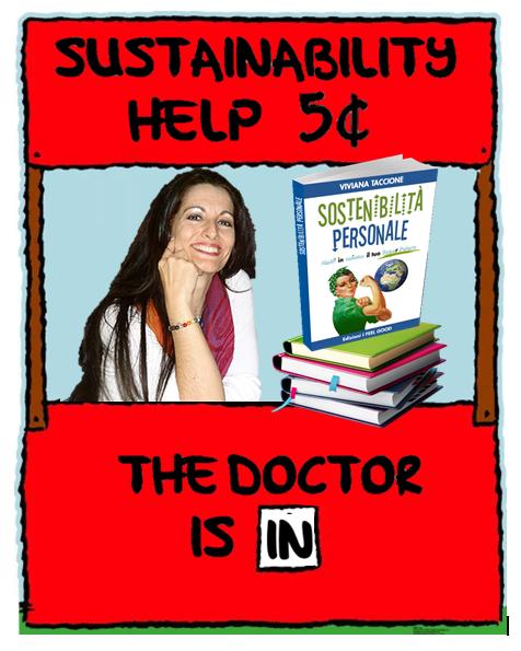 """Viviana nel mitico banchetto di consulenza di Lucy Van Pelt, ma invece di """"Psychiatric help"""" c'è scritto """"Sustainability help"""""""
